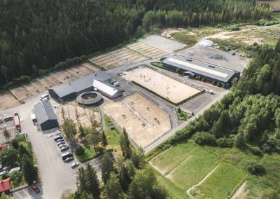 Ilmakuva Lempäälän Ratsastuskeskuksesta